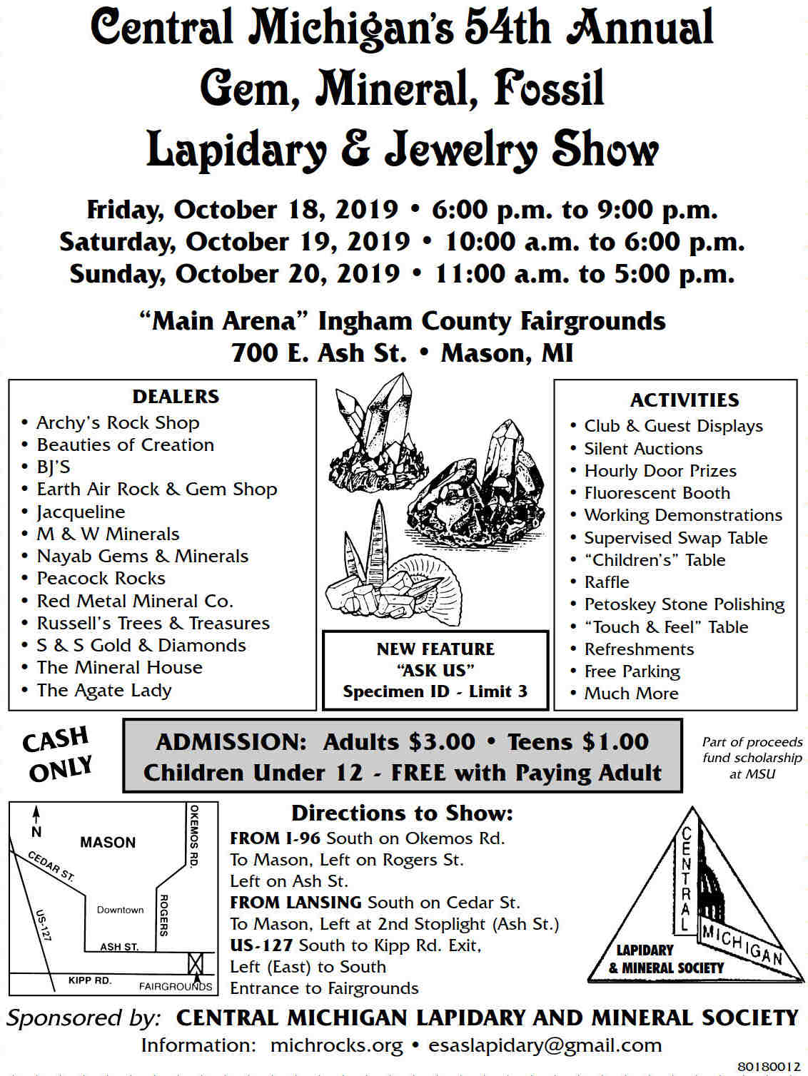 2019  Central MI Lapidary flyer